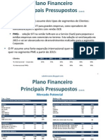 Sales Force Tablet - Pressuportos do Plano Financeiro