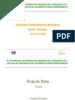 El futuro de los productos andinos en la región alta y los valñles centrales de los antes plantas medicinales
