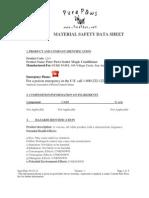 MSDS Sealer Magic Conditioner 03.21.12