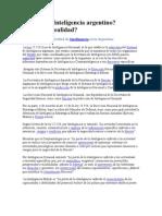 Sistema de Inteligencia Argentino