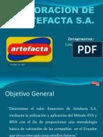 Valoración Artefacta S.A.