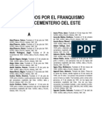 Listado fusilados por el franquismo en el Cementerio del Este (IU 14/04/2007)