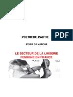 Etude de Marche Secteur Lingerie Version Finale
