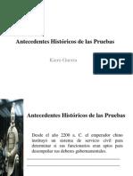 Antecedentes Historicos de Las Pruebas