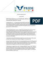 DHS Pride - Press Release