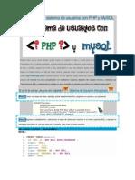 Como Hacer Un Sistema de Usuarios Con PHP y MySQL
