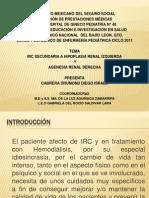 presentción caso clínico III Hemodiálisis