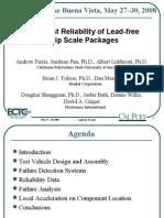 ECTC Drop Impact Reliability Leadfree CSPs Presentation