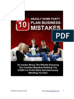 Home Party - 10 Deadly Home Party Plan Business Mistakes