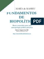 FUNDAMENTOS  DE  BIOPOLÍTICA - JAIME MARÍA de MAHIEU