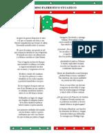 Himno Patriotico Yucateco