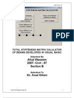 Step by Step Visual Basic Matrix Solver - Structural Engineering