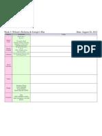 week 3 planning