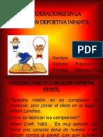 Consideraciones en La Iniciacion Deportiva Infantil