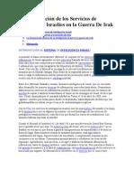 La Intervención de los Servicios de Inteligencia Israelíes en la Guerra De Irak