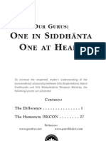 Our Gurus One in Siddhanta