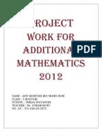 additional mathematics project work Kelantan 2/2012