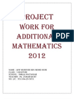 additional mathematics project work Kelantan 2/2012
