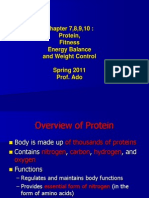 Chapt 7, 8, 9, 10_lectureEnergy Balance and Weight Control
