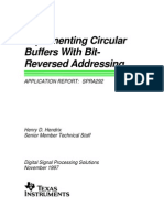Circular Buffer With Bit Reverse Addressing