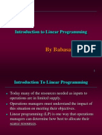 Introduction to Linear Programming MBA PPT