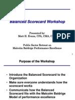 Scorecard Workshop