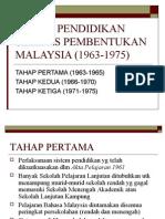 Sistem Pendidikan Selepas Pembentukan Malaysia (1963-1975)