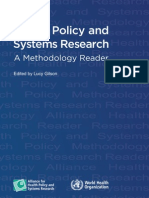 Health Policy and Systems Research; A Methodology Reader