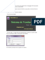 Um sistema básico para controle de vendas feito na linguagem VB6 acessando um banco de dados Access e usando ADO