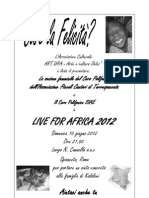 Locandina Live for Africa 2012 Per Maurizio