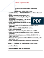 Network Engineer at HCL