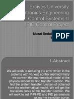 PID Control PowerPoint Sunum