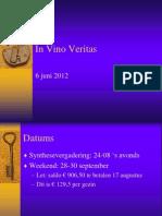 In Vino Veritas2012