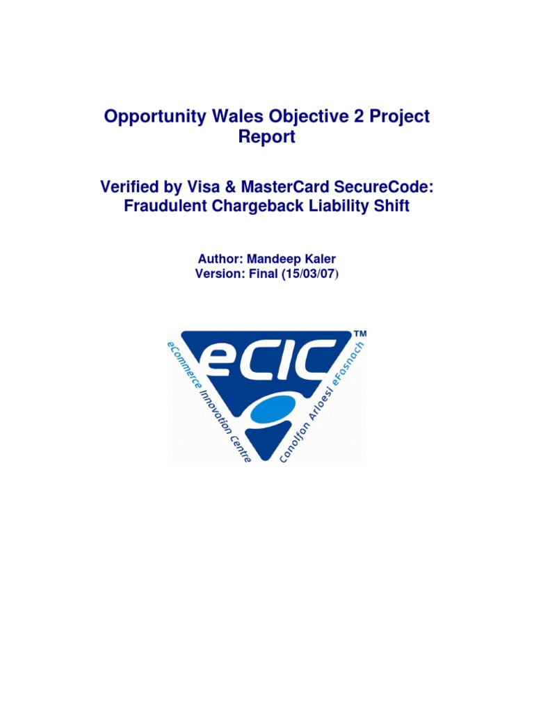 Opportunity Wales Objective 2 Project: Verified By Visa & Mastercard
