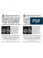 Demonstrate Stop the Bombing Demonstrate Stop the Bombing Hands