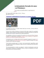 Denuncian Reclutamiento Forzado de Unos 13 Escolares en Putumayo