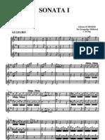 SCHERER Johann, Sonata 1 a Trois Flutes