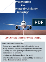 Aviation Industry and Its Challenges