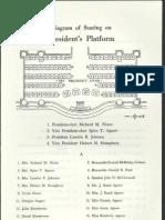 Inauguration Ceremony Seating Chart, 1969