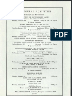 List of Inaugural Activities, 1969