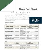 Intel Xeon E5-Performance World Records Factsheet