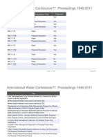 International Water Conference Proceedings 1940-2011