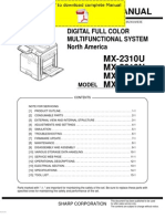 SHARP MX-2310 MX-2610 MX-3110 MX-3610 Service Manual Pages