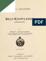 Self Knowledge (Atma-Jnana) - By Swami Abhedananda
