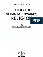 Attitude of Vedanta Towards Religion - By Swami Abhedananda