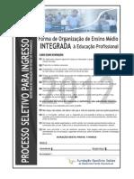Caderno Escolas Tecnicas Integrada