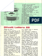Manual Olivetti Lettera 22