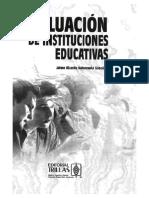 EVAL DE INSTITUCIONES EDUCATIVAS, Prólogo y cap 1_ Valenzuela
