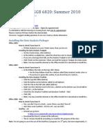 Statistics DGGB 6820 - Excel Techniques