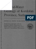 Ground Water Geology of Kordofan